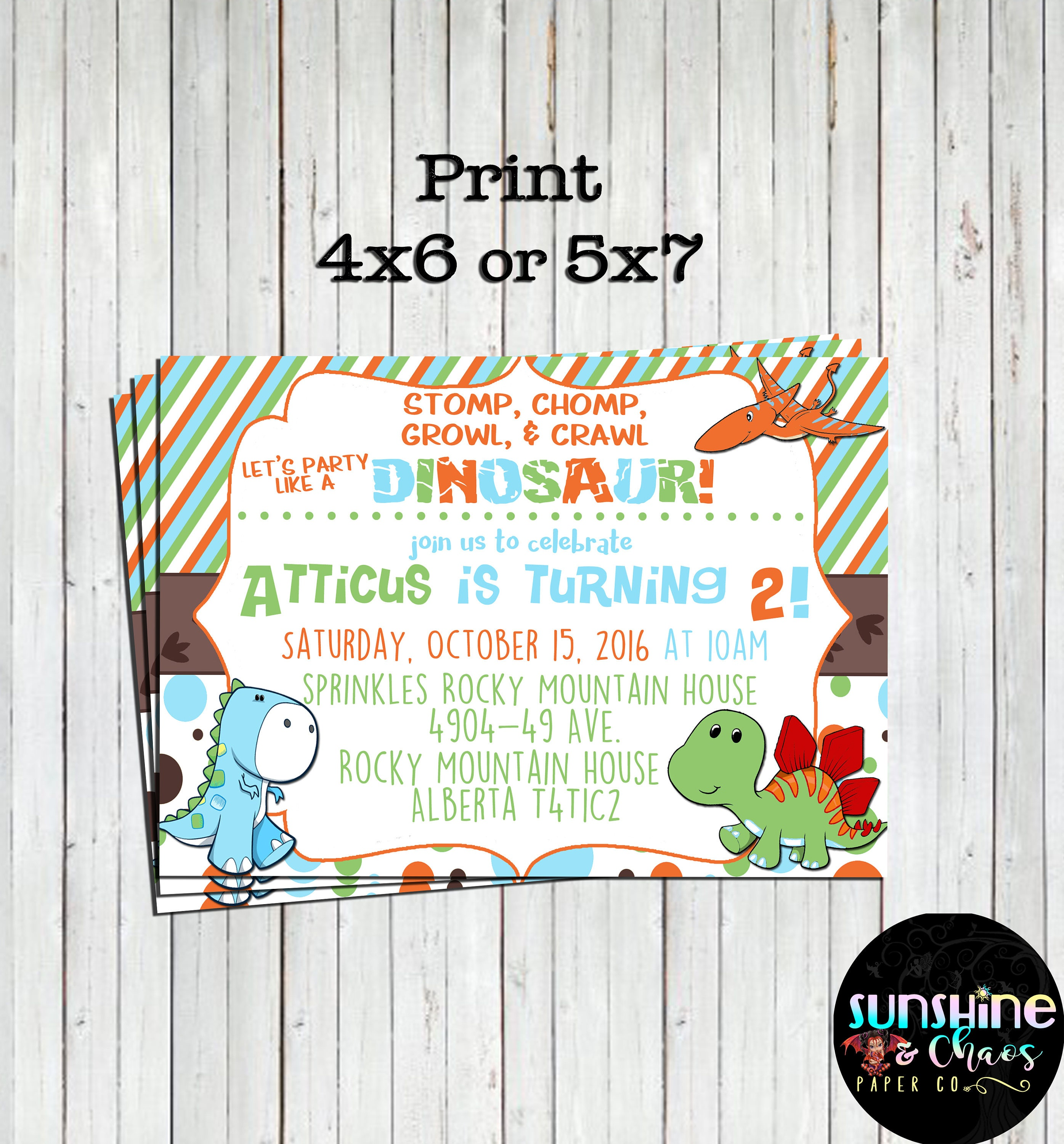 Cute Dinosaur Invitation Dinosaur Birthday Dinosaur Invites | Etsy
