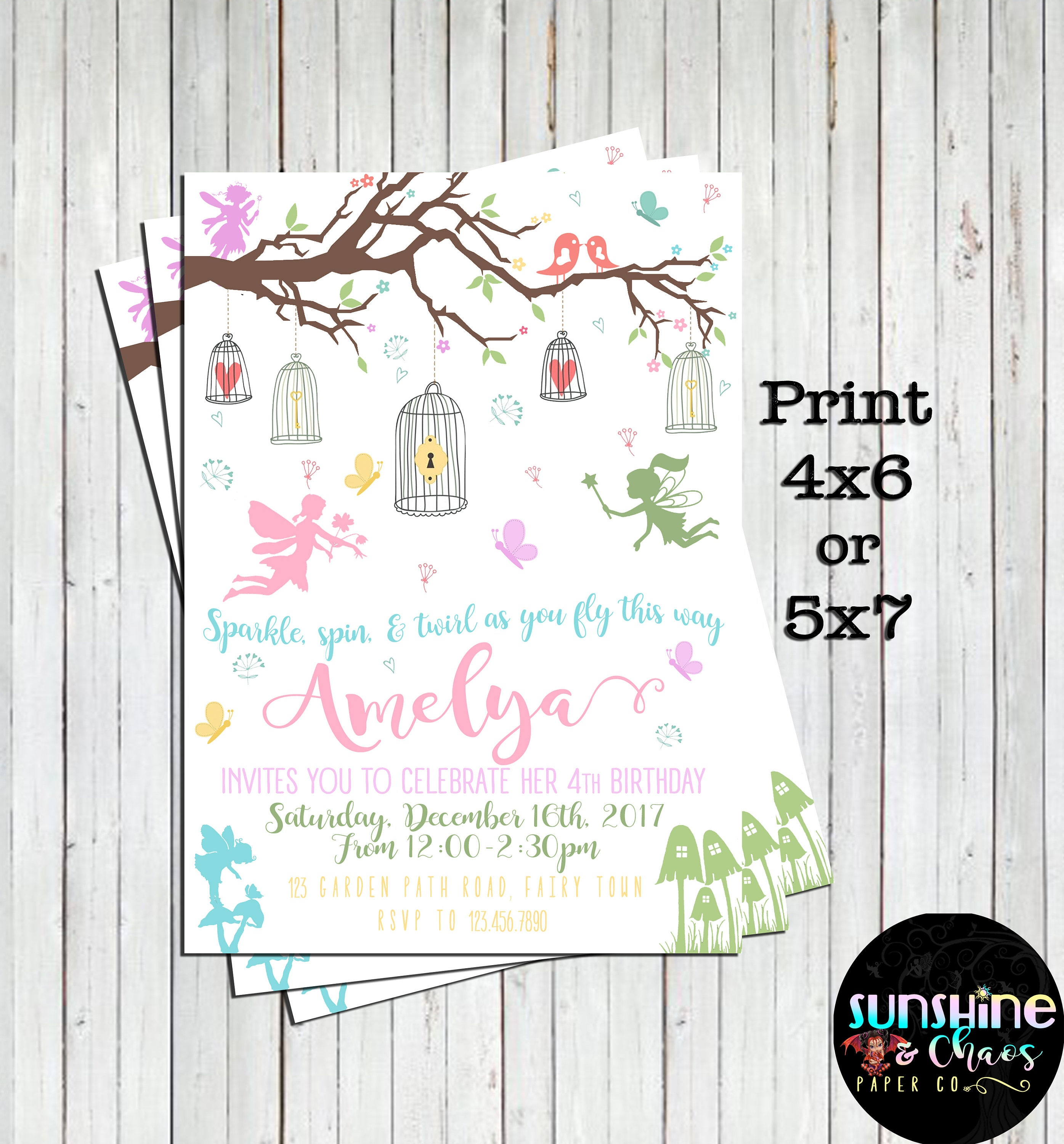 Fairy Garden Party Invitations Fairy Invites Fairy | Etsy