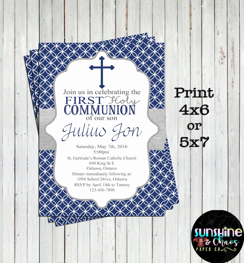 First Communion Invitations, First Holy Communions, Communion Invitations,  Communion Invite, Baptism Invitations, Christening Invitations