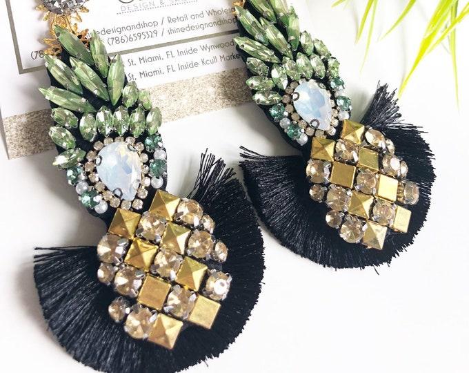 pineapple earrings. Handmade earrings. Tropical earrings. Fruit earrings