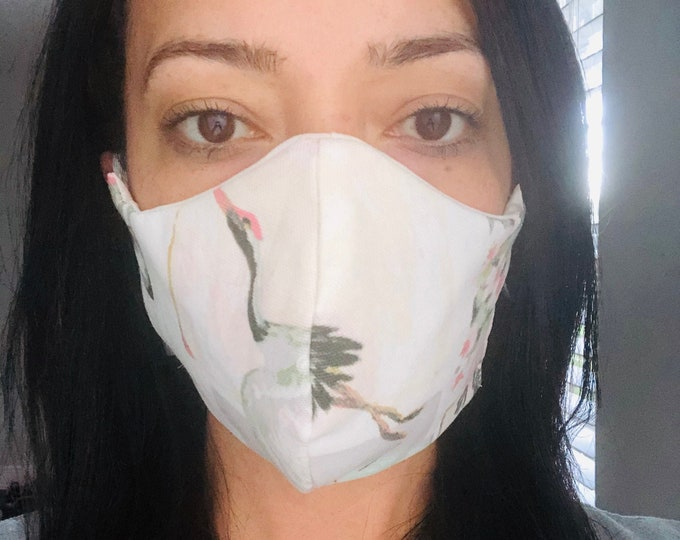 Handmade Face Mask with filter, washable facemask, reusable face mask, adjustable face mask, three layer mask, fabric face mask