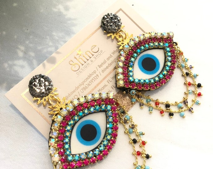 Luxury Evil Eye earrings