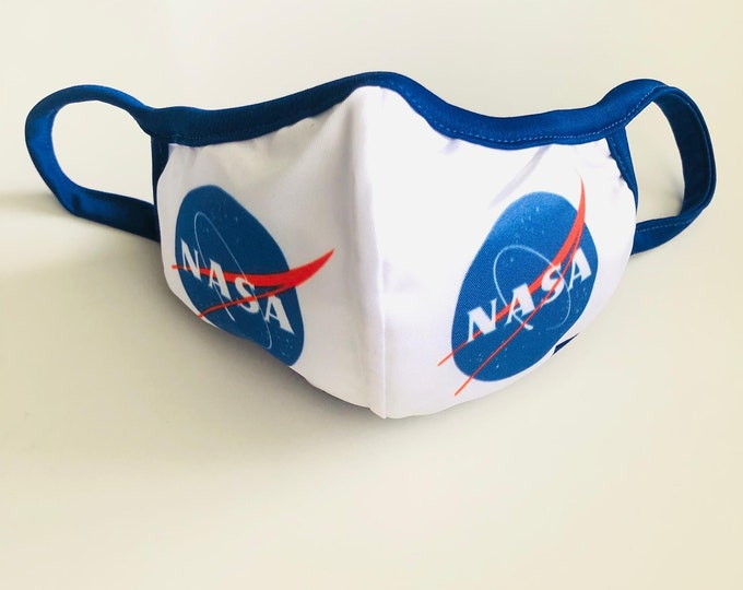 Nasa Face Mask with filter, protective mask, washable facemask, reusable face mask, face covering