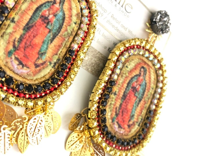 Handmade virgin Guadalupe earrings