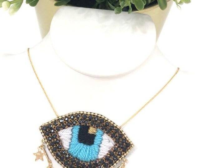 """Evil eye necklace 16"""" 18"""""""