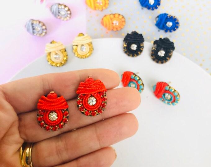Studs Soutache Earring, unique stud earrings, dainty earrings studs, soutache earrings, soutache jewelry, stunning earrings