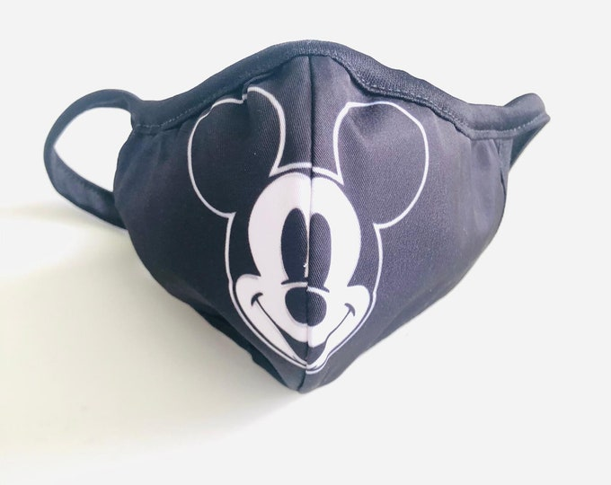 Mickey Mouse Face Mask with filter, Minnie protective mask, washable facemask women, reusable face mask, face covering, Disney Face mask