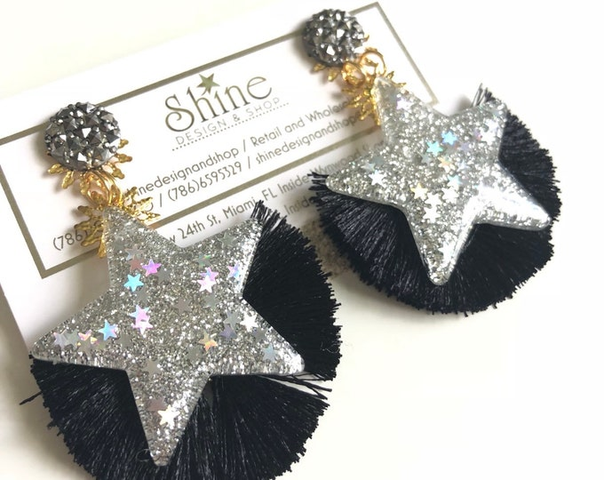 Handmade star earrings
