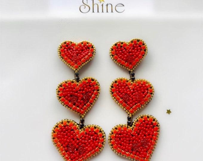 earring three hearts