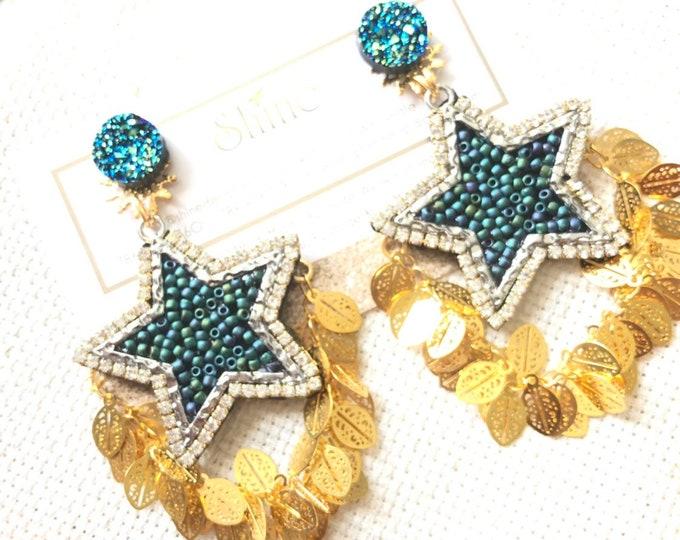 Handmade stars earrings