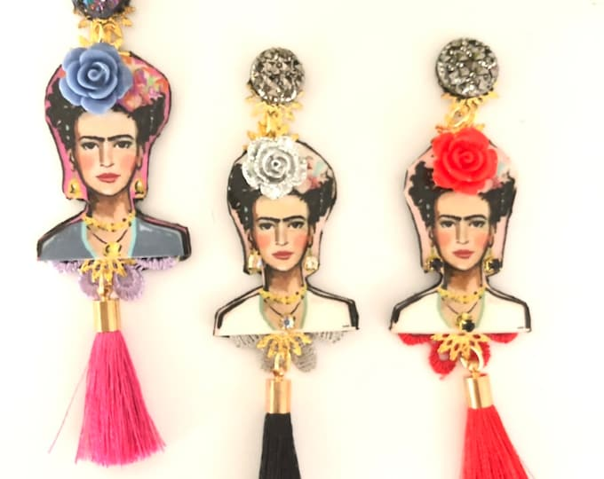 Handmade Frida Kahlo earrings