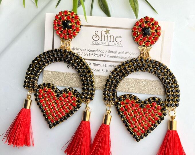 handmade heart earring