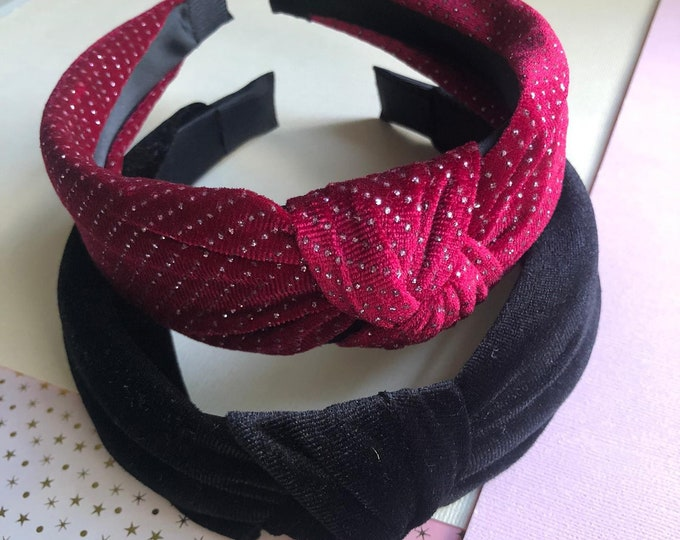 Velvet Twist Headband women, headband mariage, knotted headband, knot top headband, boho twist headband, tie up headband for woman