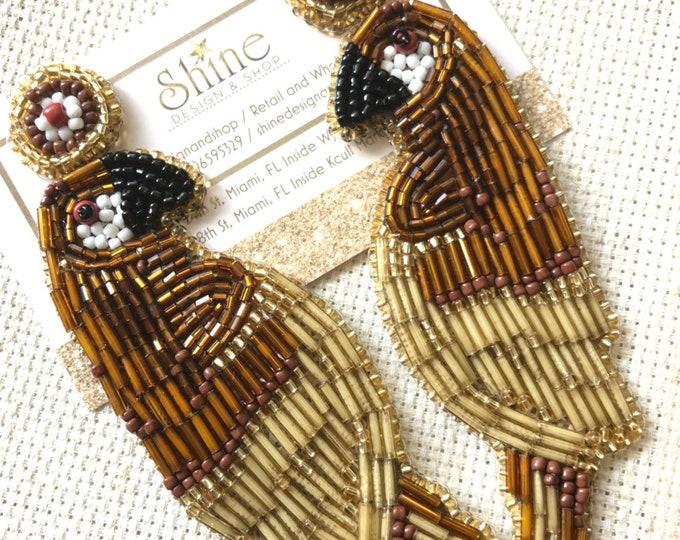 Parrot earrings handmade