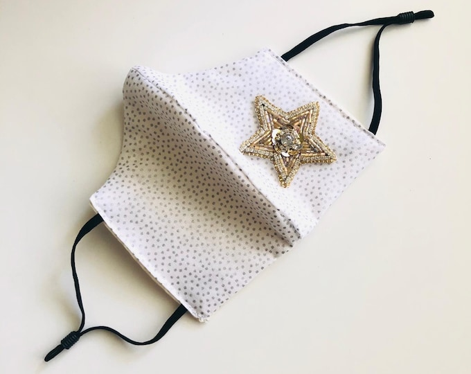 Stars Face Mask with filter, protective mask, washable facemask, reusable face mask, adjustable face mask, face covering