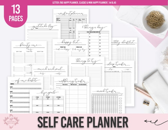 Self Care Planner Self Care Routine Planner Self Care