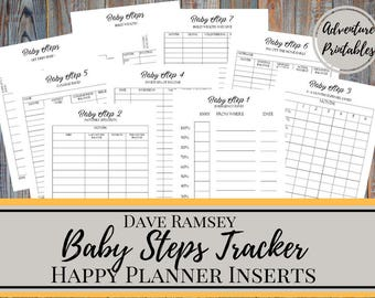 baby steps tracker printable planner pages for the mini happy. Black Bedroom Furniture Sets. Home Design Ideas