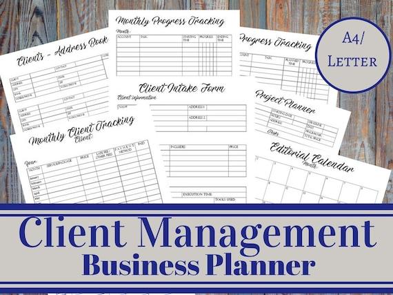 Client-Management-Business-Planer Client Aufnahme Form | Etsy