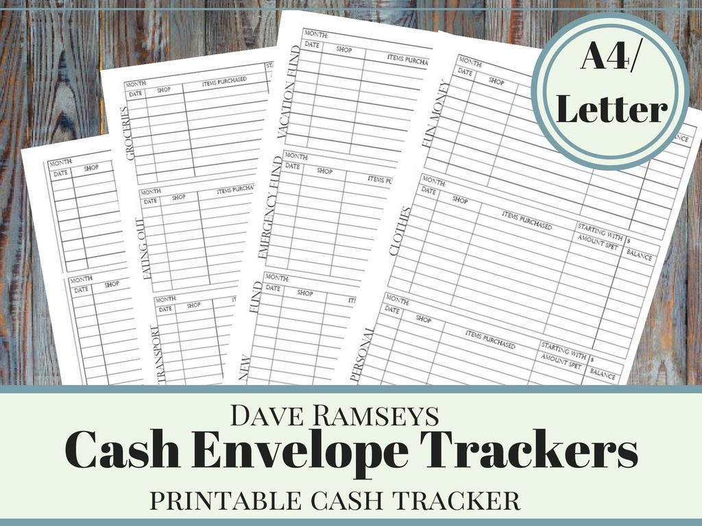 photo about Dave Ramsey Envelope System Printable named Dollars Finances Envelope Method Tracker, Printable Income Envelope, Dave Ramsey Revenue Envelope Trackers, Regular Income Funds Approach,