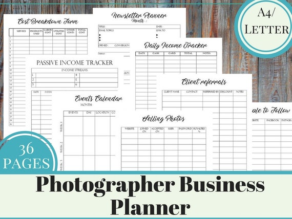 Photographer Business Planner Printable Small