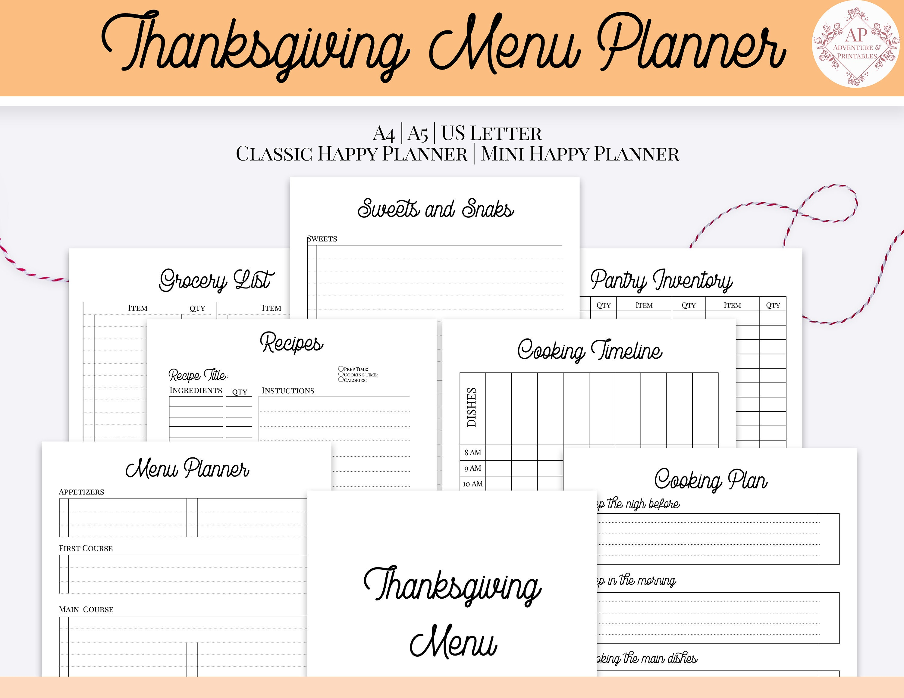 picture about Thanksgiving Menu Planner Printable titled Thanksgiving Menu Planner, Thorough Thanksgiving Supper Planner, Thanksgiving Planner