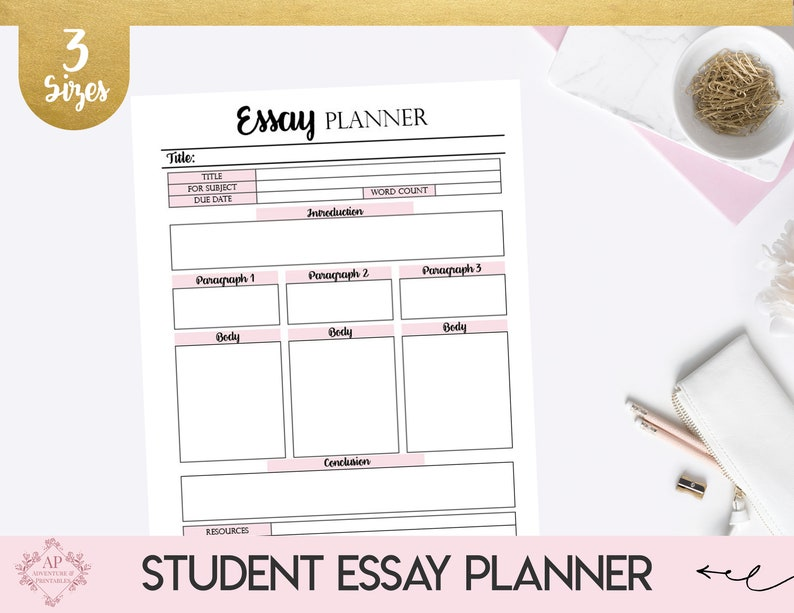 Essay Planner, Collage Student Essay Planner, Essay Writing Template