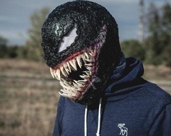 venom mask Cosplay. Black symbiote. helmet. 2018 Movie Halloween costume cosplay. face masks .Scary mask
