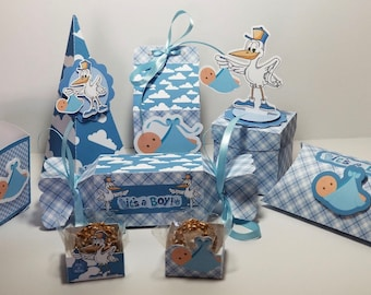 Baby Boy Shower 78 Piece Party Kit
