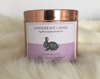 Lavender Soy Candle with essential oil - Vegan & Plastic Free Company