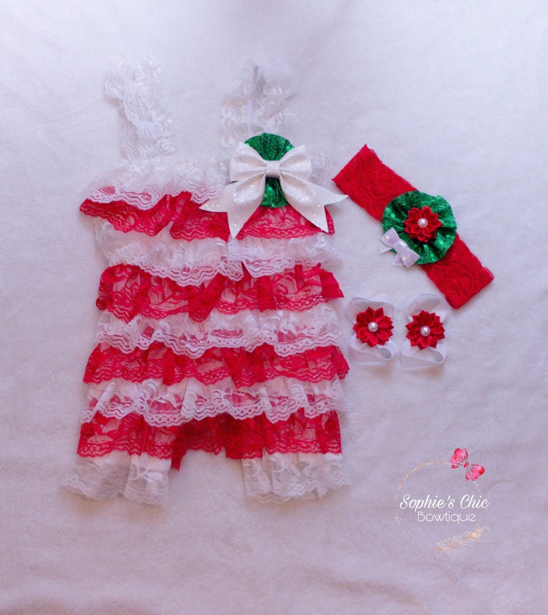 1ae90eadd22ae baby christmas outfit, christmas romper, petti lace romper, lace infant  romper, red romper, infant romper, lace romper, barefoot sandals
