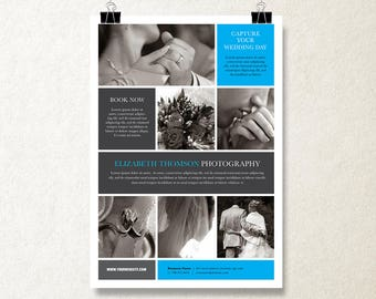 one page brochure design brochure template marketing etsy