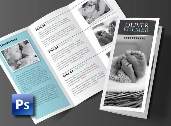 Trifold Brochure Template Photoshop Template Business Etsy