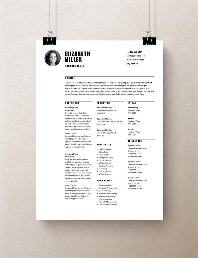 Teacher Resume Template Word Curriculum Vitae Design