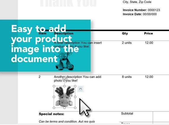 Einfache Schätzung Rechnung Vorlage Abrechnung Vorlage | Etsy