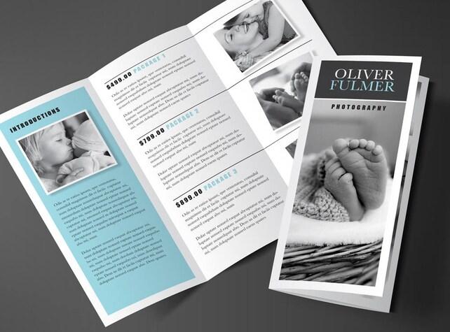 Druckbare Broschüre Design Rack-Broschüre 2 Falten Flyer | Etsy