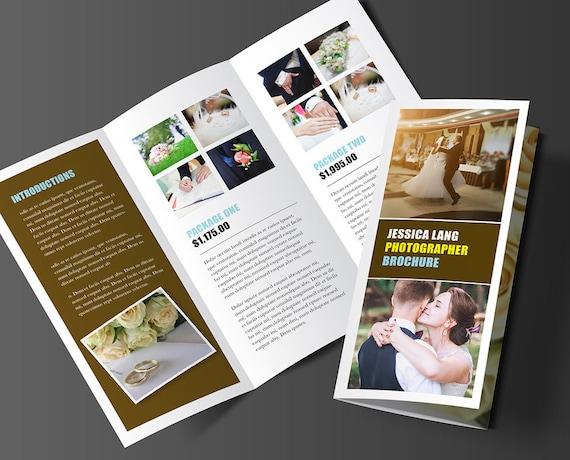 printable brochure template design rack template editable etsy