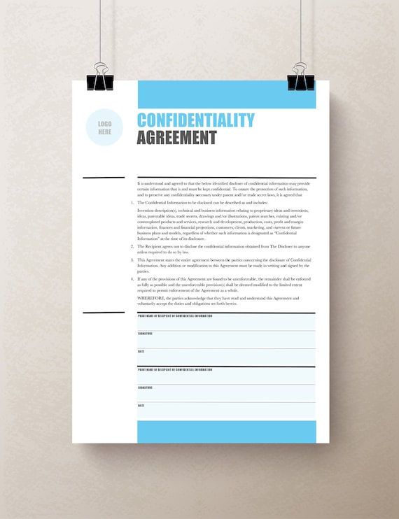 Confidentiality Agreement Non Disclosure Agreement Nda Etsy