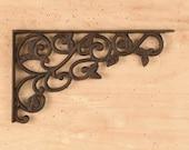 cast iron bracket, iron shelf bracket, rustic metal bracket, metal brace, shelf brace, farmhouse decor
