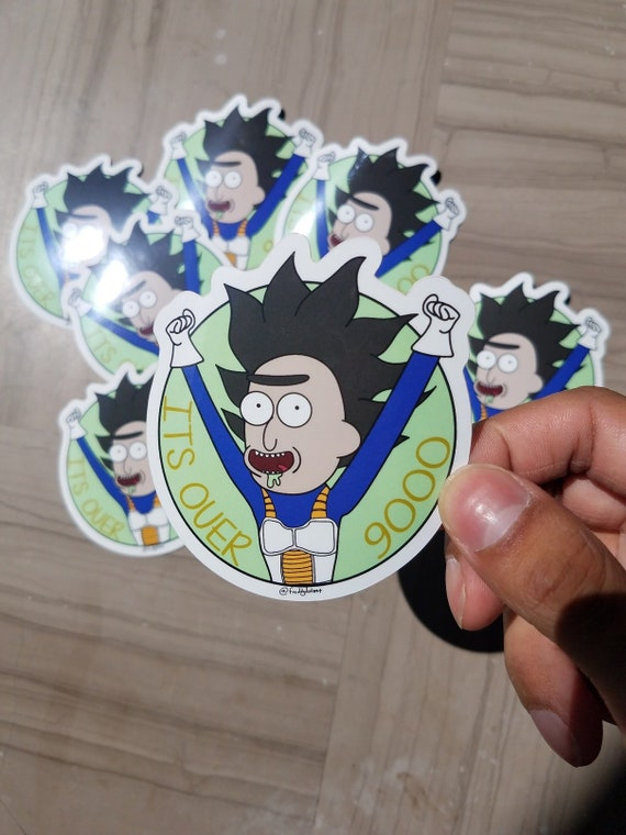 2ct Rick and Morty Sticker Duo