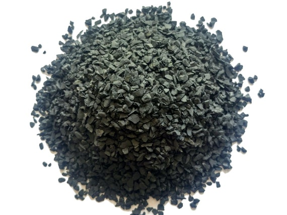 Black Shungite Crushed Chips - Large Sand - 100% Authentic Russian Stone - Healing Gemstones - Crafts & Orgonite Supply -    ( Fine gravel )