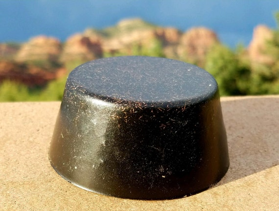 1 Large Black Sun Orgonite® Tower Buster - Powerful Orgone Generator® - EMF Protection Gifter - Raw Crystal Gemstones - Energy Accumulator