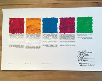 Hand-Painted Gouache-Colored Ketubah