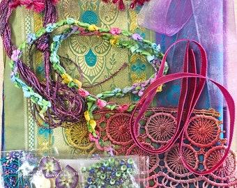 Spanish Dancer Blossom Tassel Embroidery Kit
