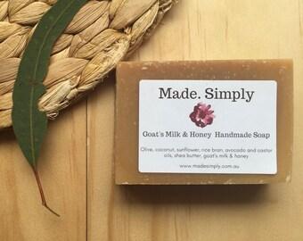 Goat's Milk & Honey Handmade Soap 100g