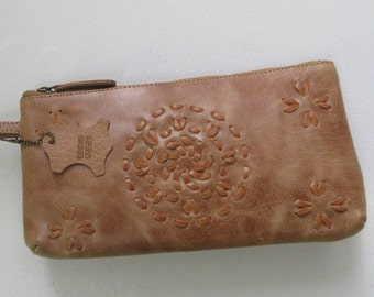 Genuine Leather Wristlet