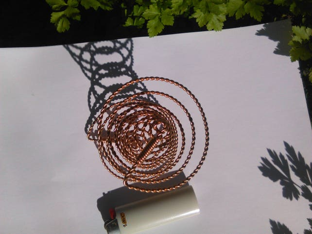 Bashar Free Energy Space-Time Antenna With Twisted Copper | Etsy