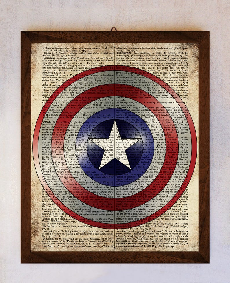 picture regarding Captain America Shield Printable named Captain The usa Guard poster, Captain The us Defend Artwork, Guide Website page Print, Dictionary Website page Print, Captain The usa Instance, Wonder Artwork