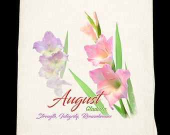August Gladiola Kitchen Towel - Flower of the Month