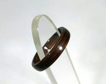 Wood Ring Rosewood bent wood, Natural Jewelry, Custom Ring, Wedding Band