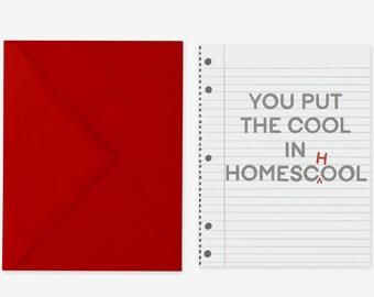Cool Homeschooler Encouragement Card